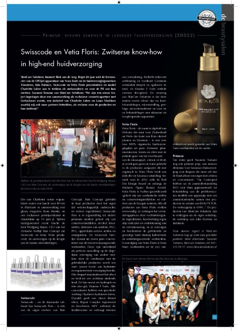 De Beautysalon September 2013 event SkinCare Solutions